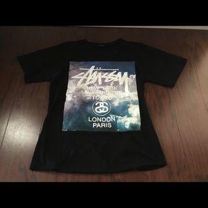 Stussy black NY LA Tokyo s/s t shirt S